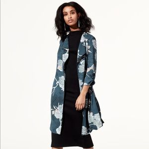 Babaton Flowy Trench, FLORAL TEAL, S